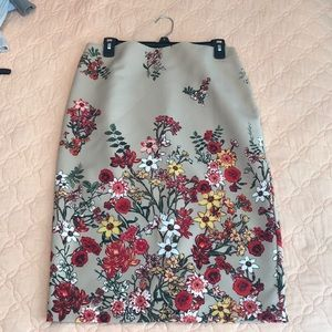 NWT New York & Co. floral pencil skirt